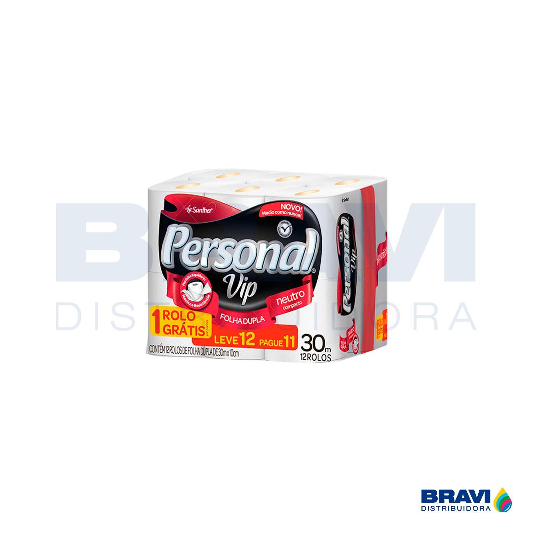 Papel Higiênico Personal Folha Dupla Pvc11 Pacote Com 12 Rolos Santher