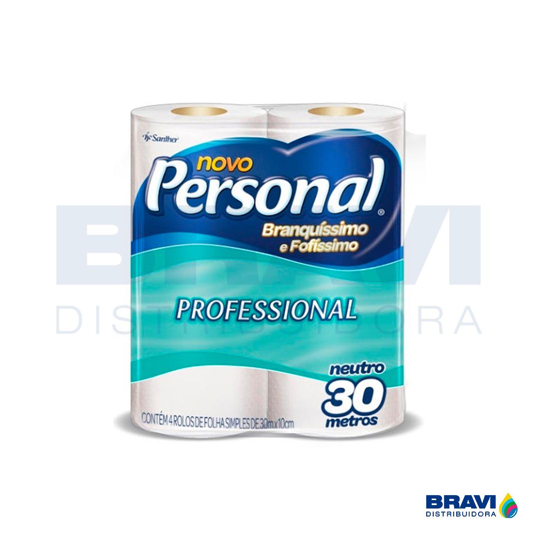 Santher Papel Higiênico Personal Folha Simples Hps45 Pacote Com 4 Rolos