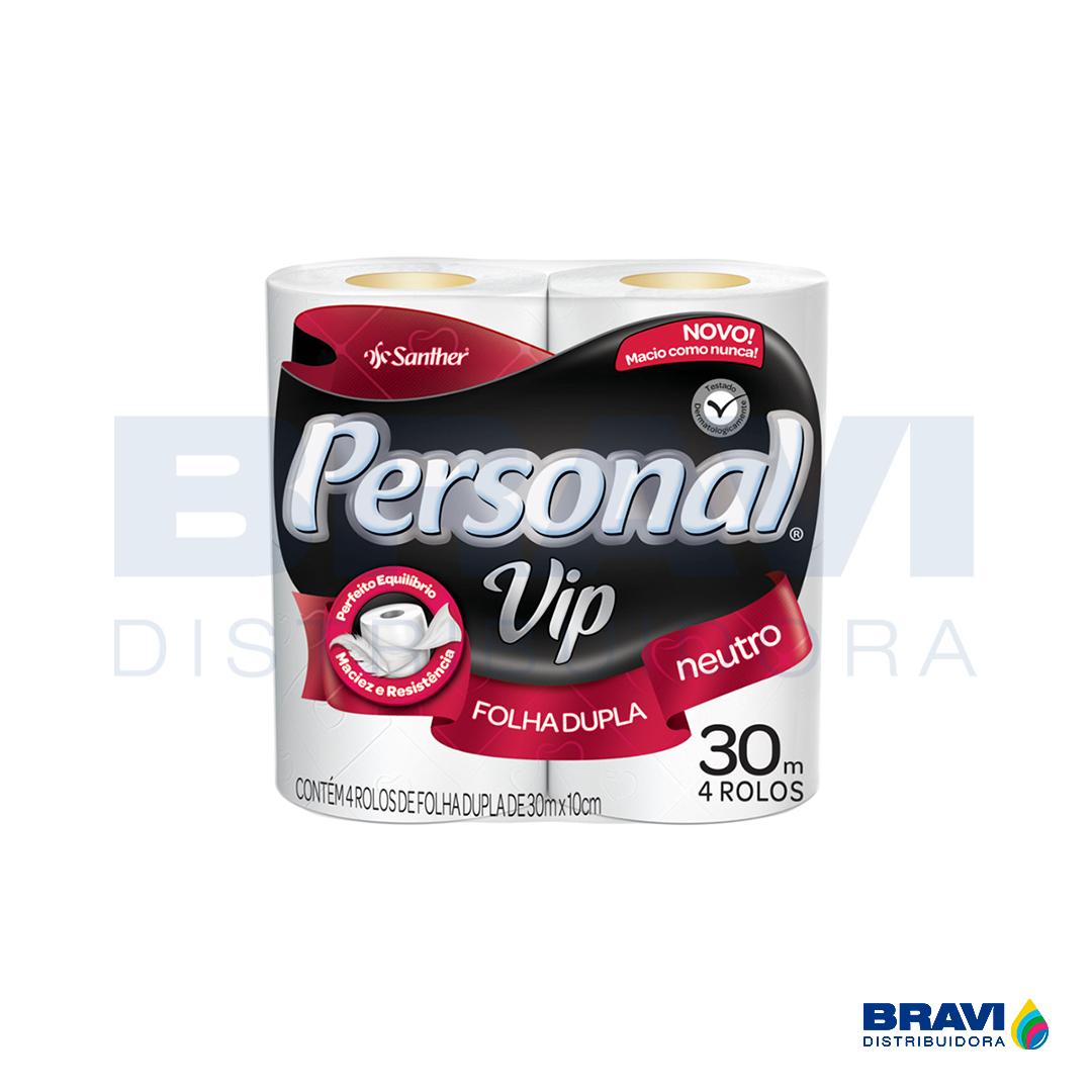 Santher Papel Higiênico Folha Dupla Personal Pvn44 Pacote Com 4 Rolos