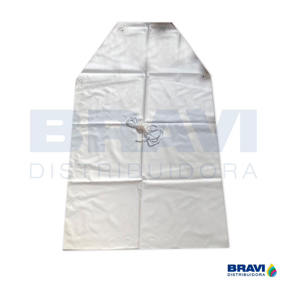 Avental Pvc Napa Branco 0.80x0.70cm Tiras Soldadas