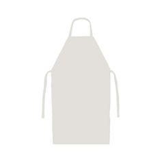 Avental Pvc Napa Branco 80x70cm Com Cordão