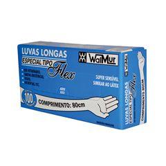 Luva Veterinária Longa Plástica 80cm Walmur Caixa Com 100 Unidades