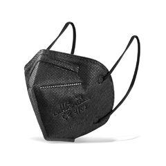 Máscara De Proteção Respiratória Kn95 Com 4 Camadas Preta Pacote Com 1 Unidade Finken