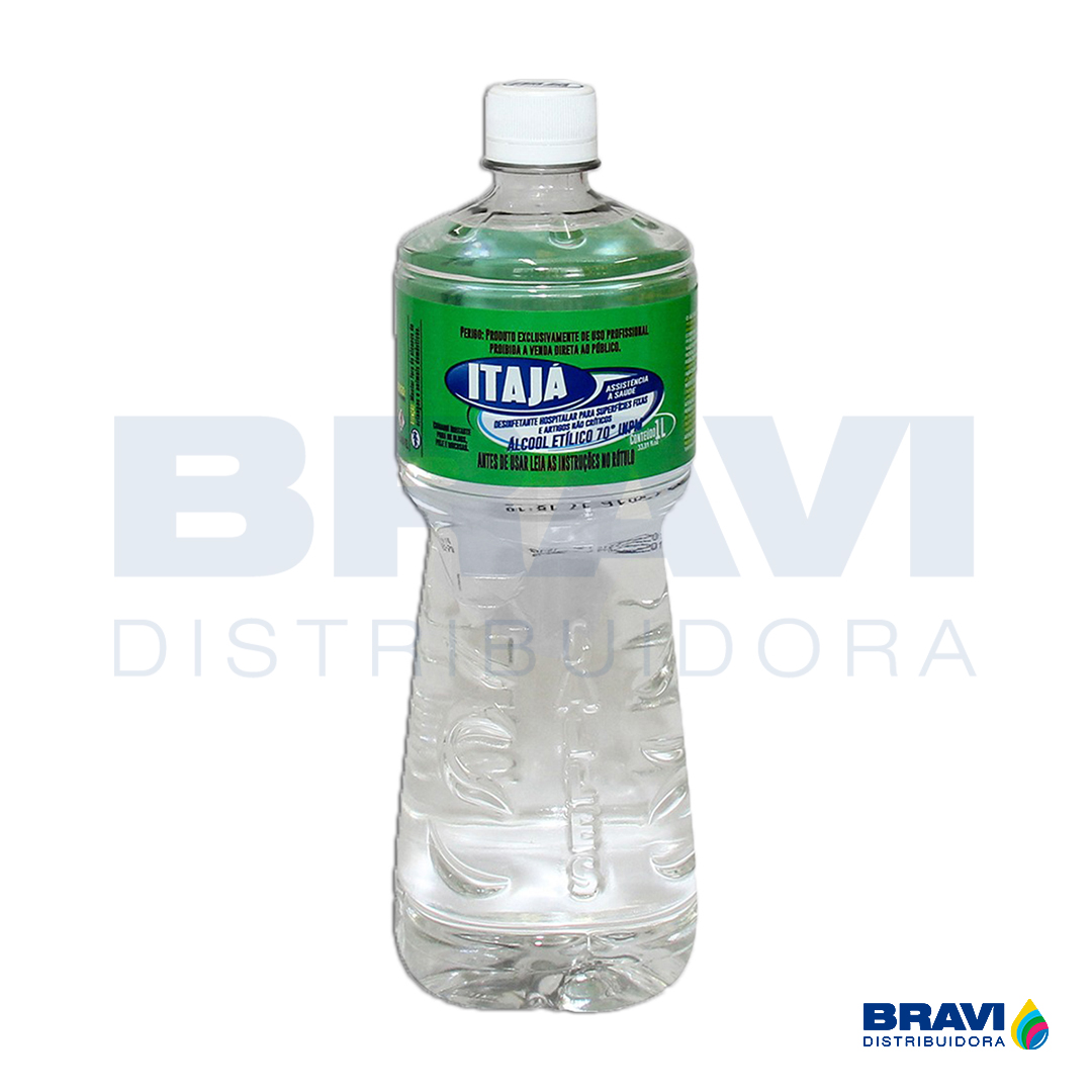 ÁLCOOL ETÍLICO 70ºC 1L ITAJA